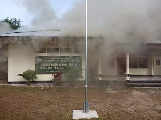 Kantor Sat Pol PP Malra Terbakar