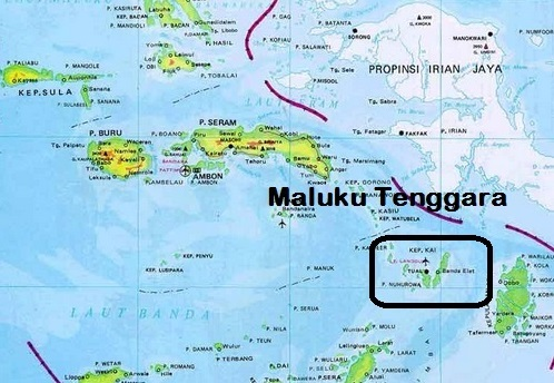 Peta Pulau kei