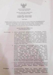 surat bersama Bupati Malra dan Walikota Tual buka akses Bandara dan pelabuhan tual