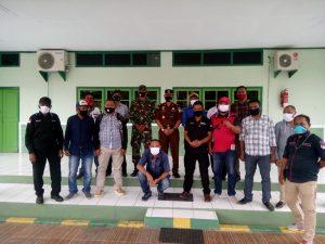 Foto Bersam Dandim 1503 Tual, Kejari dan Insan Pers di Kota Tual dan Kabupaten Maluku Tenggara