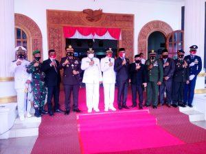 Foto bersama Walikota & Wawali Tual bersama Forkopimda usai Peringatan HUT RI ke 75