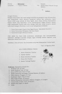 Ini bukti surat Keberatan Ahli Waris Kepada Kepala Balai Wilayah Sungai Maluku