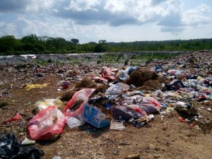 Ini lokasi lahan pembuangan akhir sampah Kota Tual di Dusun Vatraan