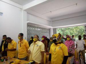 Pengurus DPD Golkar Kota Tual hadiri pelantikan pengurus Golkar tingkat Desa, Kecamatan Dullah Utara