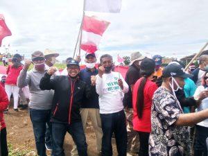 Pimpinan OPD Pemkab Malra kibarkan Merah – Putih di Kebun Kesyang
