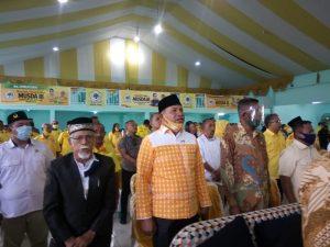 Pimpinan parpol dan Anggota DPRD Kota Tual yang hadir di Musda III Partai Golkar Kota Tual