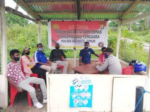 Polsek Kei Kecil Timur duduk Bacarita Kamtibmas bersama warga Ohoi Semawi