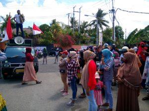 aksi demo pengungsi Lupus Kota Tual di HUT RI ke 75 di Wearhir