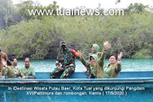 Ini destinasi wisata pulau Baer, Kota Tual yang dikunjungi Pangdam Pattimura