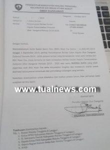 Ini surat usulan Pejabat Kepala Ohoi yang diduga dipalsukan