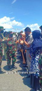 Kedatangan Danrem dijemput Eksekutif dan Legislatif Kabupaten Malra dan Kota Tual