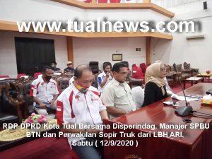 RDP DPRD Tual Bersama Sopir Truk, Disperindag dan SPBU BTN