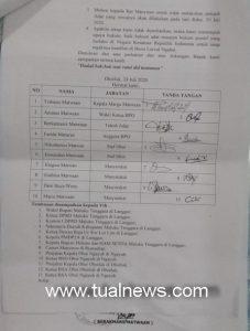 Sepuluh perwakilan warga Ohoi Ohoiluk surati Bupati Malra dan Rat Manyeuw