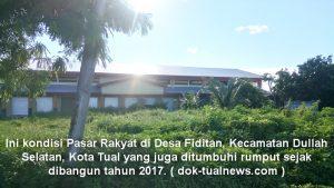 pasar rakyat di Desa Fiditan dibangun tahun 2017