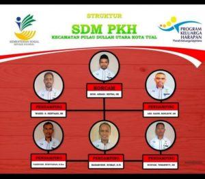 Ini struktur SDM PKH Kecamatan Dullah Utara Kota Tual