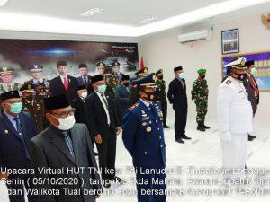Upacara virtual HUT TNI ke 75 di Langgur