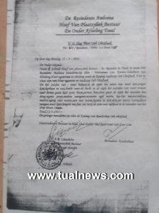dokumen tertulis Raja Ub Ohoi Faak 1