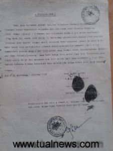 ini Bukti dokumen perjanjian tertulis Raja Ub Ohoi Faak tahun 1934