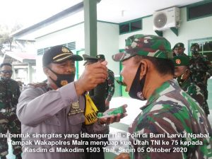 ini bentuk sinergitas TNI – Polri di Nuhu Evav