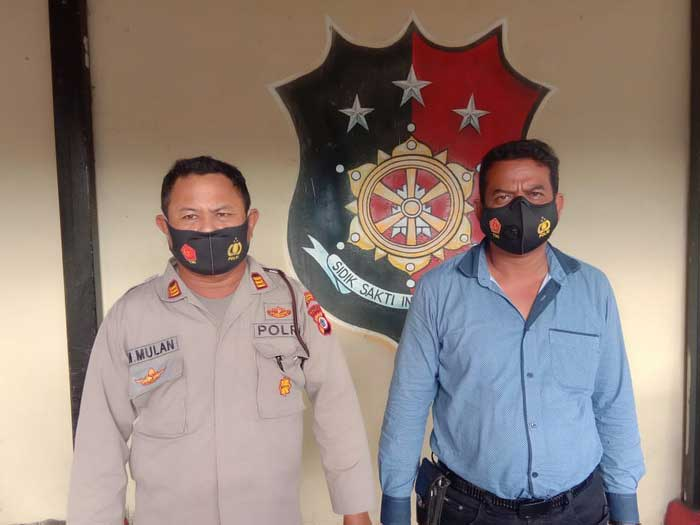 Kasubag Humas Polres Tual Tual, AKP Maslan Mulan dan Plt Kasat Serse dalam keterangan kepada tualnews.com.