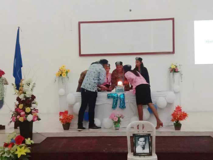 perayaan syukur Dies Natalis ke 71, GKMI Kota Tual dan Kabupaten Maluku Tenggara, selasa malam ( 09/2/2021 ).